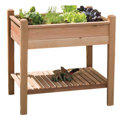 Phat Tommy - Decorative Planter Box - This unique planter box is designed to allow gardeners to tend to their plants while standing to avoid back strain.