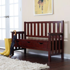 traditional bedroom benches by Hayneedle