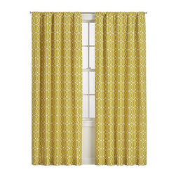 "Bella Porte Citrine Curtain Panel - I call this color ""grellow,"" but the official name is ""citrine."" I think these curtains would be gorgeous against a moody gray wall."