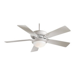 "Minka Aire - Minka Aire F569-WH Supra White 52"" Ceiling Fan with Remote Control - Features:"
