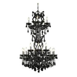 Elegant Lighting - Elegant Lighting 2800D30SB/RC Maria Theresa Collection Large Hanging Fixture - Elegant Lighting 2800D30SB/RC Maria Theresa Collection Large Hanging Fixture