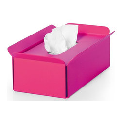 WS Bath Collections - Tissue Box in Fuchsia - Modern/contemporary design. Designer high end quality. Warranty: One year. Made from powder coated aluminum. Made in Italy. No assembly required. 11 in. L x 6.3 in. W x 3.5 in. H (2 lbs.). Spec SheetUnique and fine bath accessories and complements, that provide inspirational solutions for every decor.