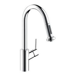 Kitchen Faucets by Hansgrohe at Ibathtile - A durable kitchen faucet with a pull down sprayer