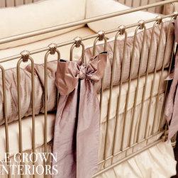 Little Crown Interiors - Orchid Lilac Silk Crib Bedding - Orchid Lilac Silk Crib Bedding