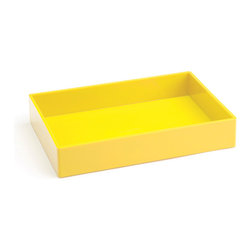 Accessory Tray, Yellow - We could all use some help compartmentalizing.