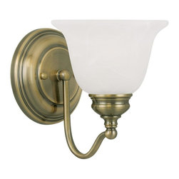 Joshua Marshal - Antique Brass Bathroom Sconce - Antique Brass Bathroom Sconce