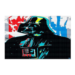 DiaNoche Designs - Area Rug by Ty Jeter - Darth Vader - Finish off your bedroom or living space with a woven Area Rug with Chevron pattern  from DiaNoche Designs. The last true accent in your home decor that really ties the room together. Maybe its a subtle rug for your entry way, or a conversation piece in your living area, your floor art will continue to dazzle for many years. 1/4 thick. Each rug is machine loomed, washed and pre-shrunk, printed, then hemmed on the edges.   Spot treat with warm water or professionally clean. Dye Sublimation printing adheres the ink to the material for long life and durability