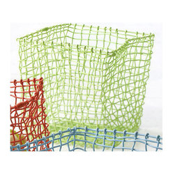 Design Ideas - Flexket Storage Basket - Green, Small - Happy storage all around. Our small green Flexket wire basket bends, transforms, shrinks, enlarges and adds color to your space. They're storage containers capable of keeping up with your imagination and ready to store toys, books, towels, flip flops or balls, to name a few.
