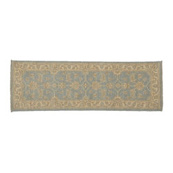 1800-Get-A-Rug - Peshawar Oriental Rug Hand Knotted Rug Runner Washed Out Sh8093 - About Oushak and Ziegler Mahal