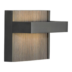 LBL Lighting - Ashland LED Wall Sconce - Ashland LED wall sconce features crisp die-cast metal base with or without decorative insert. Available in metal, aluminum foam, cork, grey oak, honey, oxide or zebra colors. Bronze or satin nickel finish. Can be mounted up or down. Includes one 6 watt 120 volt LED module. 480 lumens, 3000K color temperature and 80CRI. Dimmable with low voltage electronic dimmer. ADA compliant. ETL listed. 5.8W x 4.5H x 2.9D.