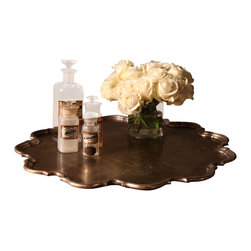 BoBo's Intriguing Objects - Scalloped Edge Tray - This pretty scalloped antique silver tray looks like a coveted heirloom, and it has so many possible uses that all of your rooms will be fighting over it. Try it on a side table or bar cart with glasses and flowers, in the bedroom or bathroom with toiletries, or (of course) as a serving tray.