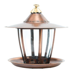 H Potter - Six-Sided Bird Feeder - This streamlined bird feeder takes design inspiration from a sleek lantern. Featuring a clear reservoir for seed control, your feathered friends also get a sloped roofline, large seed ports and a spacious perch.