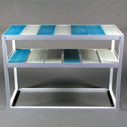 """MuNiMulA - End Table - Features: -Side table that is suited to a wide variety of uses. -Ideal next to the couch or bed. -Part of a family of tables that includes the 7"""" table and the 38.5"""" table. -Dimensions: 25.5"""" H x 35.25"""" W x 15.25"""" D."""