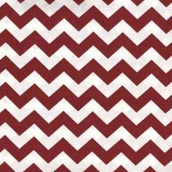 """SheetWorld - SheetWorld Fitted Pack N Play Sheet - Burgundy Chevron Zigzag - Made in USA - This luxurious 100% cotton """"woven"""" pack n play (large) sheet features a burgundy chevron zigzag print. Our sheets are made of the highest quality fabric that's measured at a 280 tc. That means these sheets are soft and durable. Sheets are made with deep pockets and are elasticized around the entire edge which prevents it from slipping off the mattress, thereby keeping your baby safe. These sheets are so durable that they will last all through your baby's growing years. We're called sheetworld because we produce the highest grade sheets on the market today. Size: 29.5 x 42."""