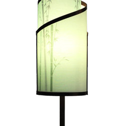 itsara koncepts - KLADIS: Interchangeable shades in seconds, Bamboo Garden, Printed Designs - Decorative table lamp with magnetic interchangeable shades. Change shades in seconds with any from our growing collection. Now you can finally change your decor for different occasions whenever you want.