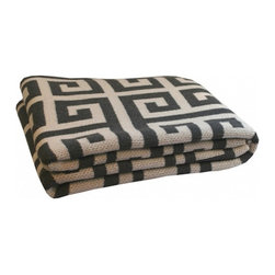 Greek Key Throw Blanket - This Greek key throw is a personal favorite. It works in almost any space and also makes a great gift.