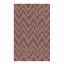"Surya Rugs - Frontier Mossy Gold/Stone Zig Zag Rug Size: Runner 2'6"" x 8' - 100% Wool. Rugs Size: 2'6"" x 8'. Note: Image may vary from actual size mentioned."