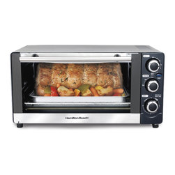 Hamilton Beach - Hamilton Beach 31409 6-slice Toaster Oven - Create a variety of delicious dishes with the Hamilton Beach 6-Slice Toaster Oven. This oven comes with a bake pan and broil grid to bake,broil or toast multiple foods with six temperature settings.