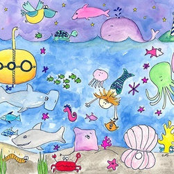 Oh How Cute Kids by Serena Bowman - Deep Sea Diving, Ready To Hang Canvas Kid's Wall Decor, 11 X 14 - Each kid is unique in his/her own way, so why shouldn't their wall decor be as well! With our extensive selection of canvas wall art for kids, from princesses to spaceships, from cowboys to traveling girls, we'll help you find that perfect piece for your special one.  Or you can fill the entire room with our imaginative art; every canvas is part of a coordinated series, an easy way to provide a complete and unified look for any room.