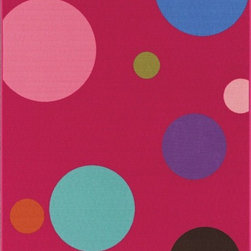 "Dalyn - Kids 4Ever Young 3'3""x5' Rectangle Fuchsia Area Rug - The 4Ever Young area rug Collection offers an affordable assortment of Kids stylings. 4Ever Young features a blend of natural Fuchsia color. Machine Made of Nylon the 4Ever Young Collection is an intriguing compliment to any decor."