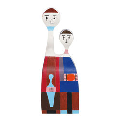 Vitra - Vitra Alexander Girard Wooden Dolls - Designer Alexander Girard dreamed up these dolls in 1963 for his own personal use, inspired by his deep love of folk art. These lively, handpainted dolls can be sculptural accents in your home, and then leap into action as toys, when the children are ready for their world of wonder and whimsy. Each solid pinewood doll comes with a brochure, encased in a precious wooden box.
