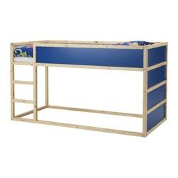 T Christensen/K Legaard - KURA Reversible bed - Reversible bed, dark blue, pine