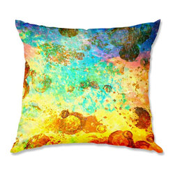 DiaNoche Designs - Pillow Woven Poplin - Julia Di Sano Fly Me to the Moon I - Toss this decorative pillow on any bed, sofa or chair, and add personality to your chic and stylish decor. Lay your head against your new art and relax! Made of woven Poly-Poplin.  Includes a cushy supportive pillow insert, zipped inside. Dye Sublimation printing adheres the ink to the material for long life and durability. Double Sided Print, Machine Washable, Product may vary slightly from image.