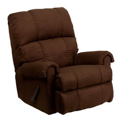 Flash Furniture - Flash Furniture Recliners Microfiber Recliners X-GG-211-0078-MW - This is a great little Rocker Recliner, period. It has been built to just the right dimensions for the average sized person, but it gives all the comfort you would expect from an over-stuffed recliner. The Microfiber cover is very lush, comfortable, and easy to clean. It is simply an outstanding value. [WM-8700-112-GG]