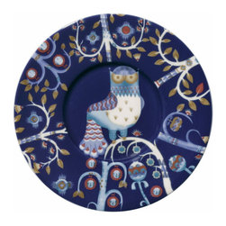 """Iittala - Taika Saucer Only, Blue - Is tea, for you, more than a beverage but a chance to escape from the """"real"""" world into one of warmth and comfort? Yes? Well then, here's your saucer, with a pattern transported from a cherished fairy tale."""