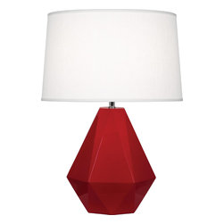 Robert Abbey - Delta Table Lamp - Diamonds are a room's best friend with this gemstone-inspired table lamp. It's as multifaceted as you are, complimenting a variety of styles, from eclectic to modern. Whether you pick a bright pop of color or stick with a neutral, this is one diamond you'll hang onto forever.