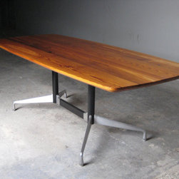 Reclaimed Industrial Pine and restored Eames base - Ray Doeksen