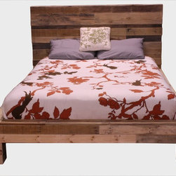 Pallet Bed - This is a queen size bed made from pallet boards reclaimed. Sleep with a peace of mind like never before because this bed is made with 85% post consumer product. You can know that the environment is a little bit better off with a purchase of this bed. It is our way of striving one step farther to a greener earth. Contact us with any questions.