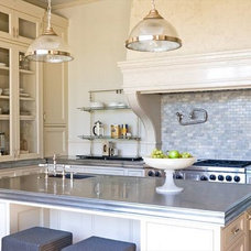 Rustic Kitchen by Stone Center