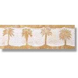 Palms Listello 4x12 - Design: Palms Listello 4x12