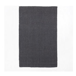 Jute Bouclé Rug, Iron - Natural fiber rugs are so versatile, and they work in any space. Change it up a little by choosing one in a dark hue, like this charcoal version from West Elm.