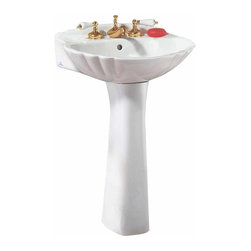 ... pedestal sink measures 22 1/2 inches wide, 6 1/2 inches deep, 32
