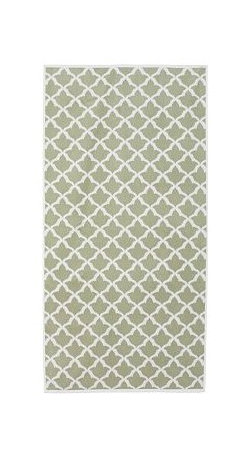 Marlo Jacquard Bath Towel, Sage Green - Jacquard weaving patterns both sides of these towels with a Moroccan tile motif. Woven of organic cotton to a 600-gram weight, they're extremely absorbent and plush. Made of 100% organic cotton. Ultraplush 600-gram weight. Oeko-Tex certified. Yarn dyed for vibrant, lasting color. Machine wash. Made in Turkey.