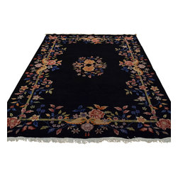 Chinese Rug Floral Design Art Deco 6'x9' Hand Knotted 100% Wool Sh17910 - Our Modern & Contemporary hand knotted rug collection contains some of the latest designs in the industry. The range includes geometric, transitional, abstract, and modern designs; from the Tibetans to the Gabbeh. We offer an entire line of contemporary designs, whether you're searching for sophisticated and muted to the vibrant and bold.