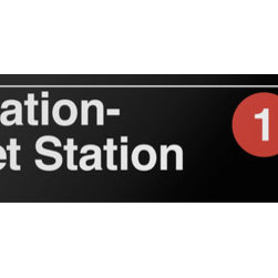 Underground Signs - Penn Station- 34 Street, Vinyl Sign - 34th Street- Penn Station on the Broadway- Seventh Avenue Line is continually ranked as one of the busiest stations in the subway system. In 2010, it was the fifth-busiest subway station with 27,196,195 riders as recorded by the Metropolitan Transportation Authority. Sign is made to order, lead time 1-3 weeks.