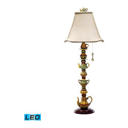 Dimond - Tea Service Candlestick Burwell One Light LED Table Lamp - - Tea Service Candlestick- LED offering up to 800 Lumens (60 Watt Equivalent). Includes an easily replaceable LED Bulb (120V)  - Bulbs Included  - Switch Type: ON Socket Dimond - 91-253-LED