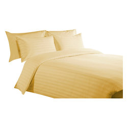 """600 TC 15"""" Deep Pocket Fitted Sheet with 2 Pillowcases Gold, California-Queen - You are buying 1 Fitted Sheet (60 x 84 inches) and 2 Standard Size Pillowcases (20 x 30 inches) only."""