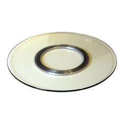 """Chintaly Imports - 24"""" Round Glass Spinning Tray - 24"""" round glass spinning tray. Great addition to any counter top or table."""