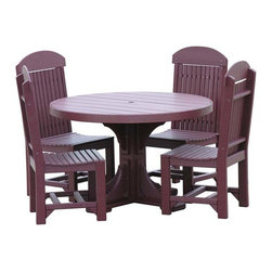 Fifthroom - Poly Lumber 5 Piece Round Dining Set -