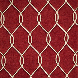 Momeni Rug - Momeni Rug Bliss 8' x 10' BS-12 Red BLISSBS-12RED80A0 - With hand carving to bring depth, the Bliss Collection is perfect for the transitional home that blurs the line between traditional and contemporary. These rugs are hand tufted from the softest blends of polyester and are meant to stand the test of time. Bliss spotlights bold patterns and rich earthen colors that add character and personality to any room in the home.