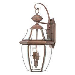 QUOIZEL - Quoizel Lighting Newbury 2 Light Outdoor Wall Lantern in Aged Copper NY8317AC - Quoizel Lighting Newbury 2 Light Outdoor Wall Lantern in Aged Copper NY8317AC