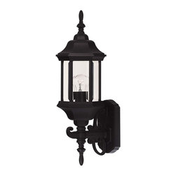 Savoy House - Savoy House Exterior Collections Outdoor Wall Mount Light Fixture in Black - Shown in picture: Decorate your favorite outdoor spaces to bring a sense of style Al Fresco!