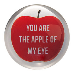 Sugarboo - Apple of My Eye - Handmade paper weights will bring a smile to everyone's face