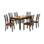 Steve Silver Furniture - Steve Silver Abaco 7-Piece Dining Room Set with Leaf - Let the Abaco Dining table take center stage at your next dinner party or gathering. The Dining table includes a 12 Inch butterfly leaf, tapered legs, and a very unique finished top. The Abaco collection displays great craftsmanship and you will enjoy this collection for years to come.