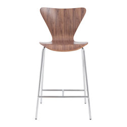 Euro Style - Euro Style Tendy Counter Chair Set of 2 02825 - Certain designs cross the threshold from interesting and glamorous all the way over to nothing less than a design icon. You're looking at it. And you could be sitting in it.