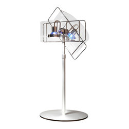 Pablo Designs - Gloss Table Lamp in Clear Finish - Features: